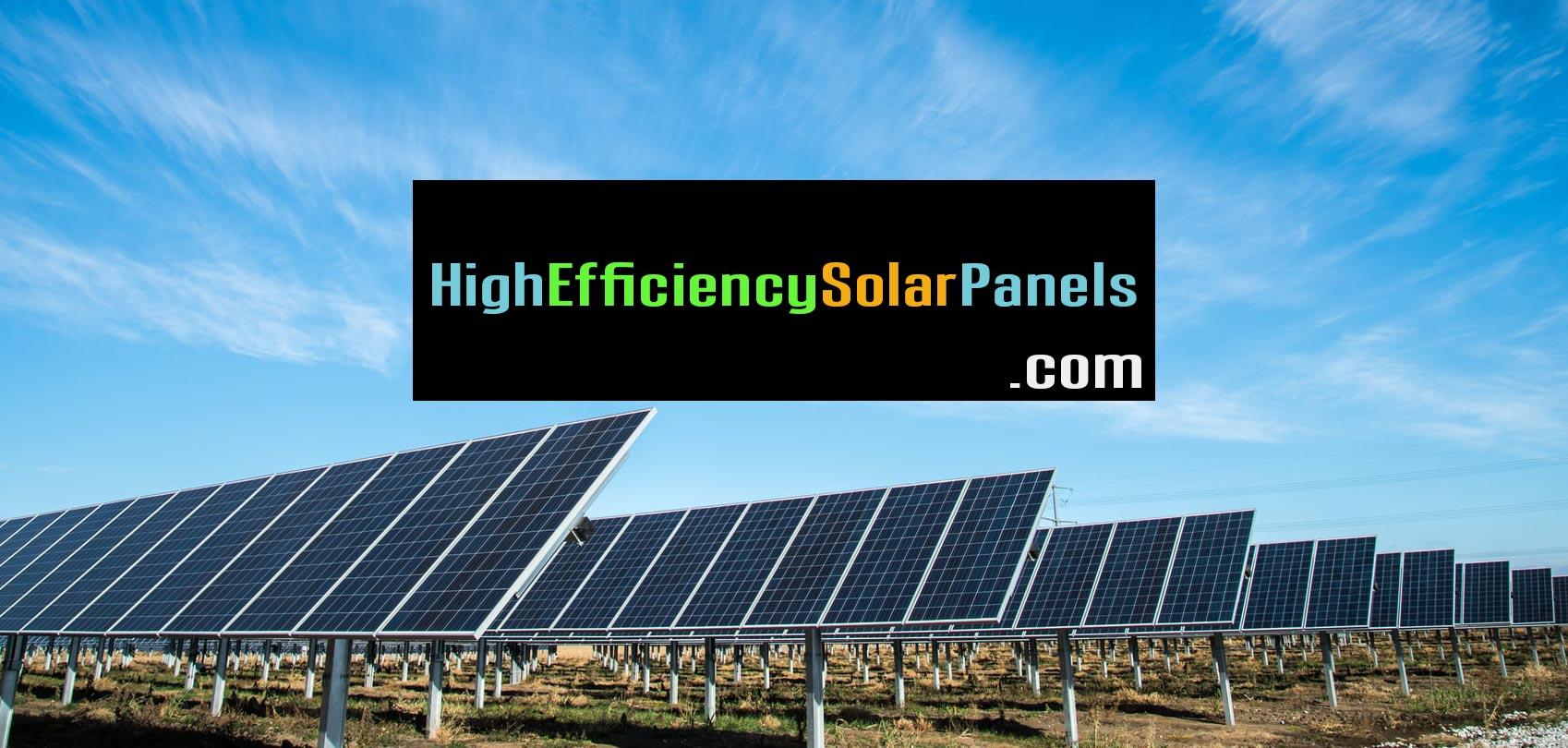 Domain: High Efficiency Solar Panels (dot COM)