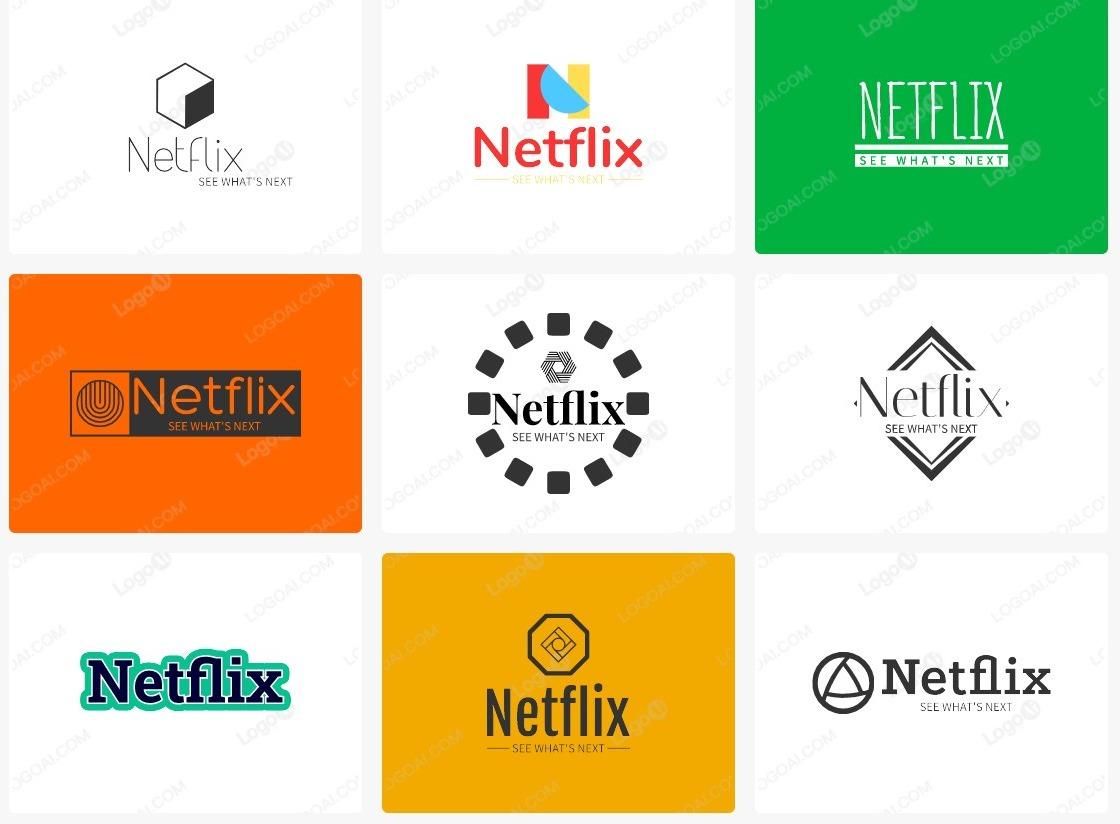 Netflix AI logo concepts