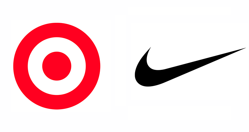Nike and Target Logos